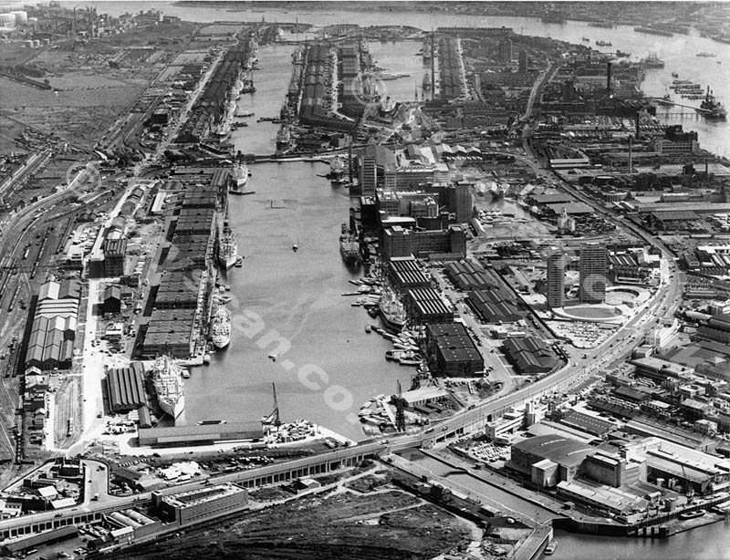 Victoria Dock London working port in 1968